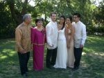 10/02/04 Los Angeles, CA - Cl'72 Virginia Cacho Almiron's Family @ daughter Jennifer's wedding: L-R Jun, Jean, Rick Z