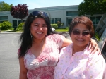 05/05/07 Fremont, CA - Daughter Fina Lee with Mom Madeline Aquino Pengosro '72