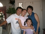 06/21/03 Pinole, CA - Cl'80 Rosana Galang Faustino with husband Joey & daughters Jessamine & Jenna