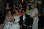 06/23/07 Clifton, NJ - Wedding Reception - sitting L-R: Letty Chan Guanlao '72, daughter Farrah Jane Guanlao Pacheco &