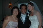 06/23/07 Clifton, NJ - Farrah Jane's wedding reception - L-R: Letty Chan Guanlao '72, husband Rolly & daughter Farrah