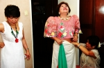 Class'72 preparing for Filipiniana Day L-R: Cecilia Carbonell del Rosario, Visitacion Salazar Plurad & Virginia Cacho A