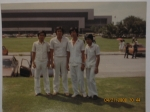 Class '81 male (JR, Roy, Mon & Andy) RNs minus 1 after oath taking at the Folk Arts Theatre